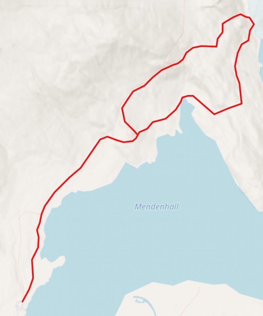 Mendenhall Glacier Hike GPX Track