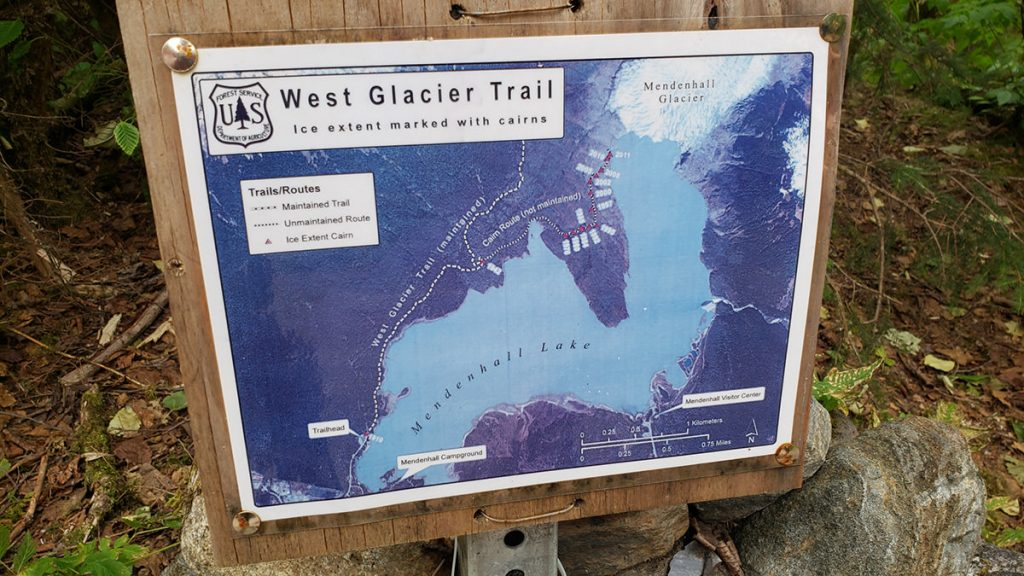Mendenhall Glacier Hike Map